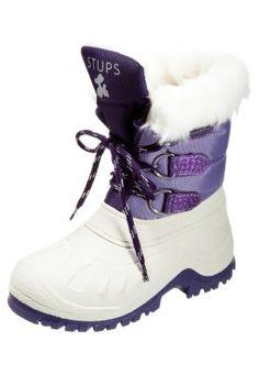Snowboot / Winterstiefel - bianco/lila