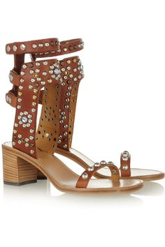 Today's So Shoe Me is the Carol Studded Leather Sandals by Isabel Marant, $1035, available at Net-a-Porter. With the exciting anxiety-attack/happy-dance news that Isabel Marant will be the next designer for the anticipated fall capsule collection for H there's months to prepare for the battle over an affordable version of her iconic hidden wedge sneakers (they totally started a revolution).