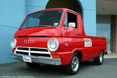 """1964 Dodge A-100 Pickup~ These get so warm inside the cab!! Bill Maverick had One for his Best Man~ Known as """"The Little Red Wagon""""!!!"""