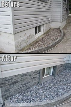 Great way to hide the foundation wall!