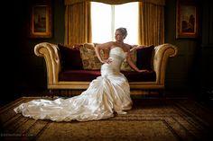 Derek and Kelli's Blue Bell Country Club Wedding #brideportrait Bridal Portrait at #normandyfarm