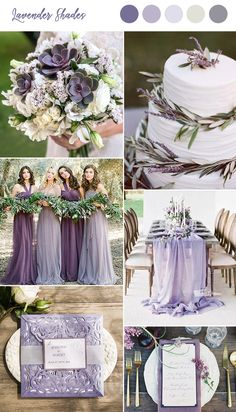 10 Pretty Shades of Purple Wedding Color Combos lavender shades spring and summer wedding colors Lavender Wedding Theme, Sage Wedding, Spring Wedding Colors, Our Wedding, Dream Wedding, Wedding Summer, Purple Wedding Colors, Rustic Purple Wedding, Purple And Green Wedding
