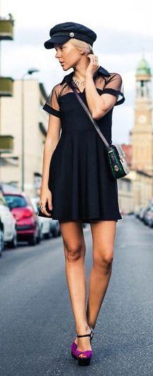 holiday dress #style #fashion #black