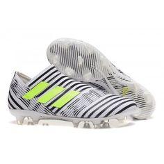 Chaussure Foot Adidas Nemeziz 17+ 360Agility terrain sec pour Homme Noir  Blanche Jaune pas cher