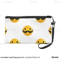 movember emoji bag purse wristlet ($59) ❤ liked on Polyvore featuring bags, handbags, clutches, emoji, white purse, wristlet purse, wristlet handbags, wristlet clutches and white handbags