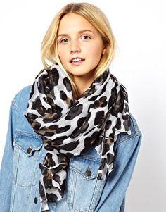 asos leopard print scarf