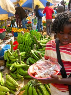 bananas for sale at the market, Uige, Angola