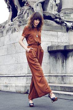 Alexa Chung polka dot jump suit Jumpsuit Damen Elegant, Alexa Chung Style, Overall, Dresscode, Parisian Chic, Summer Looks, Her Style, Love Fashion, Fashion Tips