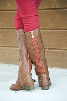 Brown Riding Boots  -