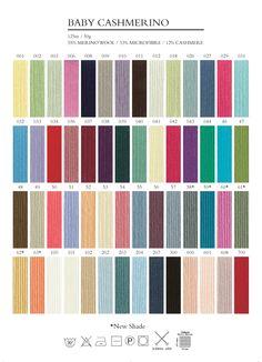 Debbie Bliss Baby Cashmerino Colour Chart Beautiful Colors