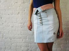 Upcycled jeans skirt