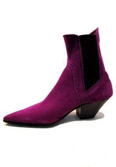 Men's Vintage 1980's John Fluevog Purple Suede