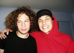 Ray Toro and Frank Iero<<Ray is me when someone I don't like touches me