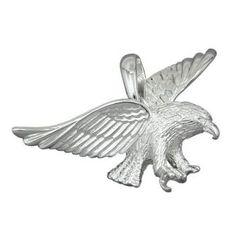 Schmuck-Juweliere.de - Anhänger, Adler 40mm breit, Silber 925