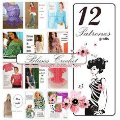 Las 12 mejores blusas caladas / patrones crochet