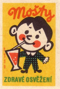 czechoslovakia. matchbox label.   Healthy refreshment by oliver.tomas, via Flickr
