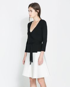 ZARA - WOMAN - DOUBLE BREASTED JACKET WITH BOW