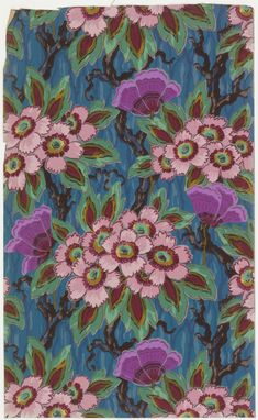 Sidewall Sample (France), ca. 1930; Produced by Isidore Leroy Company ; machine-printed paper; Overall: 76.5 x 46.5 cm (30 1/8 x 18 5/16 in.); Museum purchase from General Acquisitions Endowment and Friends of Wallcoverings Funds; 2001-14-34
