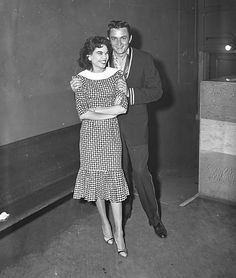 Johnny Cash And His Wife Vivian Liberto Backstage At The Grand Ole Opry C 1956
