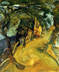 Chaïm Soutine (Bielorusian-French, 1894 - 1943) Road up the Hill, 1922