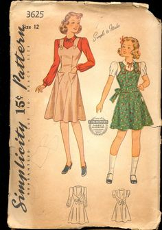 Vintage 1940's Girl's Jumper and Blouse by AtomicRegeneration