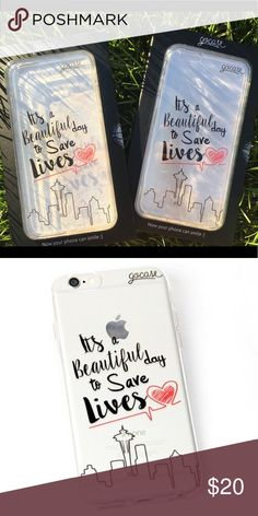 """Selling this """"It's a beautiful day to save lives"""" iPhone Case on Poshmark! My username is: brooke_ire. #shopmycloset #poshmark #fashion #shopping #style #forsale #GoCase #Accessories"""