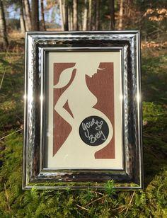 Marvelous Passepartout Whistler Holzoptik f r die Schwangerschaft