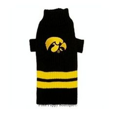 NCAA Iowa Hawkeyes Dog Sweater - Sports Apparel - Licensed NCAA College Sports Gear -Iowa Hawkeyes Posh Puppy Boutique