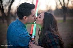 Star Wars Engagement- you guys should take engagement photos like this. Mike can be your photographer #katiesgettinghitched