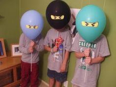 balloons for Ninjago faces