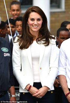 Kate had her hair styled into a coiffed blowdry for her day out