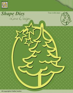 Matrita Lene Design - Tree with stars - Sablon embosor Embossing Folders Casa Retro, Marianne Design, Mini, Paper Crafts, Scrapbook, Album, Shapes, Handmade, Silhouette