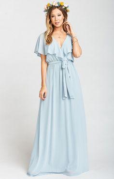 541f9db3a4b Audrey Maxi Dress ~ Steel Blue Chiffon