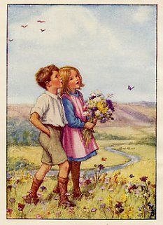 Young Boy and Girl by Cicely Mary Barker