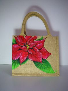 sac shopping petit format jute naturelle pailletée peint à Jute Handbags, Painted Canvas Bags, Paper Bag Design, Handmade Paint, Jute Crafts, Patchwork Pillow, Jute Bags, Fabric Bags, Bottle Art