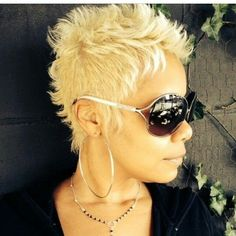 Hot short hair and hair color