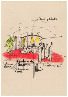 Renzo Piano's Ronchamp Expansion: Oratory sketch