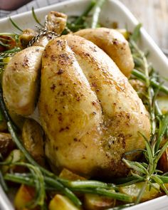Gebraden kip met rozemarijnpatatjes, boontjes en pesto - De ideale zondaglunch met vrienden en familie #15gram