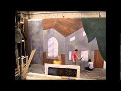 The Vampire Castle Time Lapse- University of MN Centennial Showboat- Scenic Drop Painting process via Meg Kissel and Professor Lance Brockman and Scenic Artist Wendy Waszut-Barrett