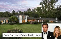 Celebrity Real Estate: Drew Barrymores House in Montecito
