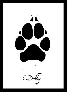 Cutsom Paw Print for SMALL/MEDIUM Pets. $20.00, via Etsy.