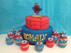 Spiderman Gâteau et cupcakes