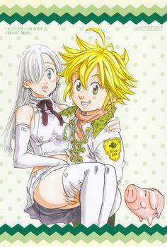 Elizabeth e Meliodas  (Nanatsu no Taizai)