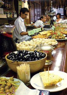 Tapas in San Sebastian, Spain. Photo by Winnie You  -- may come back fat!!