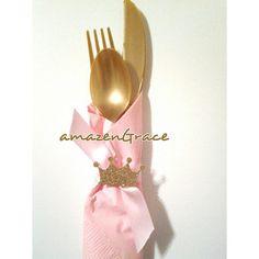12 READY TO SHIP Princess plastic cutlery sets. Princess theme, 1st birthdays, baby shower, royal princess table decor.