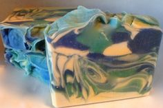 Ocean Water Cologne Scented Artisan  Soap - Cold Process, Pure Silk, Handmade