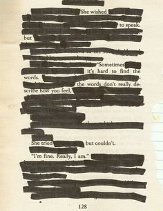 ahhhhh blackout poetry is actually magical