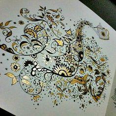 o Use with Simple + relax Johanna Basford Books, Johanna Basford Coloring Book, Joanna Basford Secret Garden, Secret Garden Coloring Book, Hand Made Greeting Cards, Copics, Prismacolor, Polychromos, Coloured Pencils