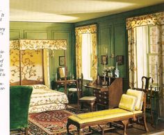 RUTH MCCHESNEY'S MINIATURE ROOMS  1730 American Bedroom