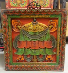 Tibetan Wooden Panel Asian, Projects, Painting, Accessories, Home Decor, Art, Log Projects, Art Background, Blue Prints